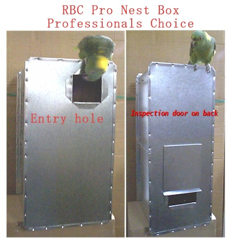 metal nest box for parrots